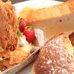 cake&cafe MILK - サクサクのパイが3枚