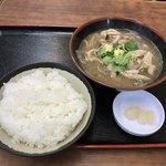 うちなーすばヤージ小 - 中味汁定食¥800