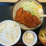 富士見食堂 - 2018年1月 とんかつ定食 900円