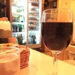 洋食屋 もりもり - 国産牛霜降りステーキ(200g) 3,300円 セットのワイン