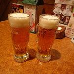 びっくりドンキー 北見店 - ビールで乾杯