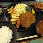 味の大善 - メンチかつ定食(700円)
