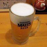 あじ彩 - あじ彩 「生ビール」