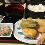 蛇の目寿司 - 天ぷら定食、1500円なり