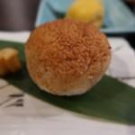 牡蠣と魚 海宝 - 焼きおにぎり