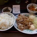 日高屋 - 生姜焼き定食(ライス大)