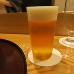 日本料理 太月 - 30年1月 生ビールグラス