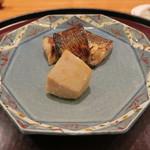 日本料理 太月 - 30年1月 カマス味噌幽庵焼き 京海老芋唐揚げ