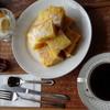 珈童 - 料理写真:◆中御門(550円)+フレンチトーストセット(300円)、価格は外税。