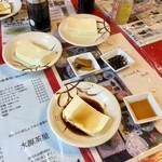 水源茶屋 - 湧き水で作っているお豆腐だそうです。