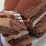 フロプレステージュ - チョコレートケーキ(断面)