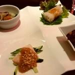 中国料理 桃李蹊 - 桃李蹊ランチ 前菜盛り合わせ