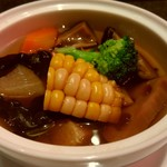 中国料理 桃李蹊 - 料理写真:桃李蹊ランチ ごろごろ野菜のスープサラダ