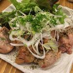 日本酒原価酒蔵 - 鶏肉の山椒焼きー山椒がイイね!