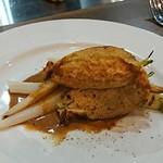 たつみ - ウニのムースを詰め込んだ花ズッキーニのフリット