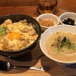 79103832 - 親子丼とミニ鶏そばセット