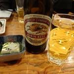 魚久 - 瓶ビール