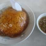 79105130 - 天津丼。スープ付き。