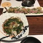 茜どき - 蛸のカルパッチョ&ローストビーフ