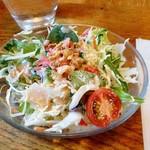 レストラン寿楽 - 「ミックス」のミニサラダ