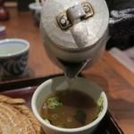 信濃庵  - 蕎麦湯