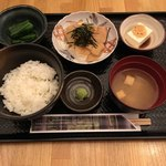 なるたけ - 連れの鯛の胡桃醤油和え定食('18/01/08)