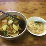 天下一 - 『麺類』セット広東麺760円&半チャーハン310円