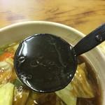 天下一 - 広東麺オイリースープ