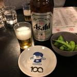 三松会館 - 大瓶ビール640円