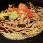 京ちゃばな - アボカド黒焼きそば京野菜ミックス1180円税別