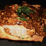 京ちゃばな - トマトお好み焼き こぼれるモッツァレラチーズ1380円税別