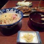 一鶴 - ひなどり894円ととりめし(スープ付き)462円