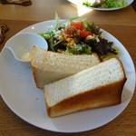パンポルカ アベック カフェ - 料理写真:モーニング トーストセット