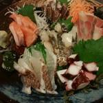 全席個室居酒屋 京の町に夢が咲く - 刺身6種盛