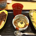 四季茶寮えど - わらび餅ところてんセット(2011.4)