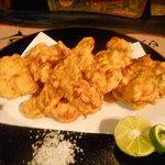 粥茶屋 写楽 - アサリの天ぷら