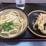 植田うどん - 料理写真:かけ小とげそ天