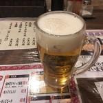 餃子 寺岡 - 生ビール