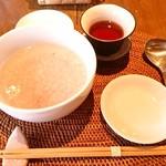 上海茶房 Lu-Lu-Cha - 小豆粥とプーアル茶