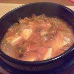 チャングム - チゲ鍋☆ホルモン、韓国春雨に豆腐や野菜がたっぷり