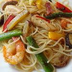 パパマリーノ - 海老とアスパラのスパゲッティ 1,400円