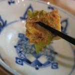 隼 - ゴーヤと島豆腐のチャンプルー喰らう