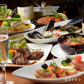 小皿料理が充実しています。たくさん種類をお楽しみください