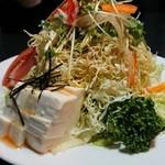 ダイニング菜々  - 豆腐サラダ