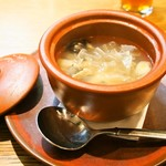 79147370 - 鮑と真ツブ貝のスープ