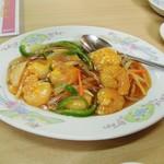 中華料理天鳳 - エビの甘酢