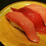 回転割烹 寿司御殿 - 生本マグロ3貫680円  生本マグロ中トロ・生本マグロ天身・生本マグロ大トロ