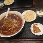 成都 - 黒酢麺600円♪フツーは単品ですが、無理言ってセットにしてもらいました。