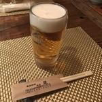 家庭料理地酒 蔵 - ビールでスタート