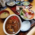 喰い処 弐七 - 弐七丼とホッキカレーのハーフ 1300円
